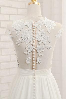 Summer Chiffon Kleider Für Hochzeit | Brautkleider A Linie Mit Spitze_7
