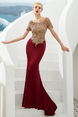 Evening dresses long glitter | Red prom dresses with sleeves_6