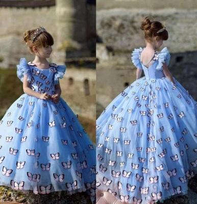 Blumenmädchen Kleid Blau | Blumenmädchen Kleider Kinder_2