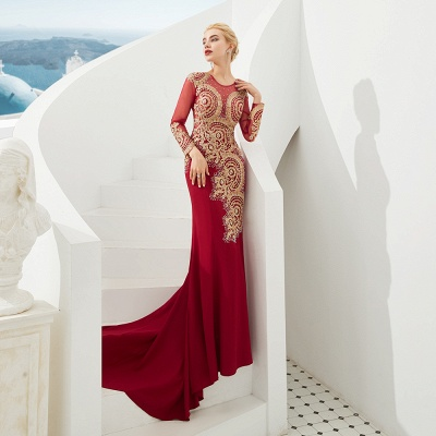 Evening dress long red | Prom dresses with sleeves_6