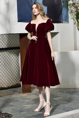 Evening dresses short wine red | Cocktail dresses cheap online_11