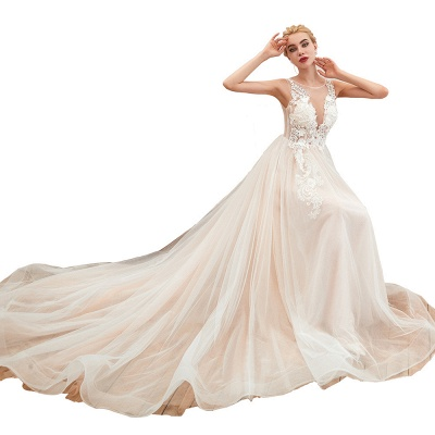 Schöne Hochzeitskleid A linie | Brautkleider Günstig Online Kaufen_21