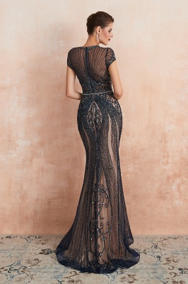 Prom Dresses Long Black | Evening dress with glitter_18