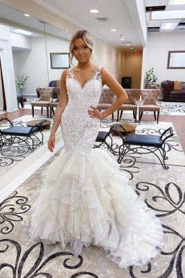 Elegant mermaid wedding dresses | Wedding dresses with lace_1