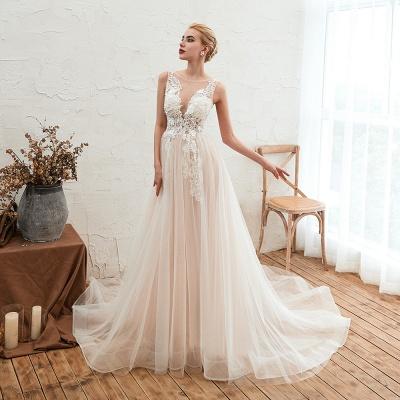 Schöne Hochzeitskleid A linie | Brautkleider Günstig Online Kaufen_8