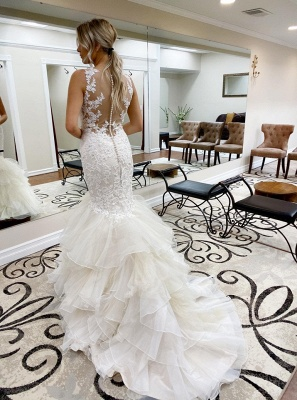 Elegant mermaid wedding dresses | Wedding dresses with lace_2