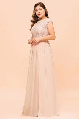 Champagne Übergroße Brautjungfernkleider | Brautjungfernkleid Große Größe_6