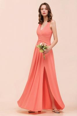 Schlichte Brautjungfernkleider Lang | Coral Brautjungfernkleid Günstig_6