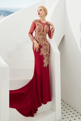 Evening dress long red | Prom dresses with sleeves_8