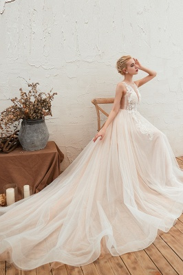 Schöne Hochzeitskleid A linie | Brautkleider Günstig Online Kaufen_6