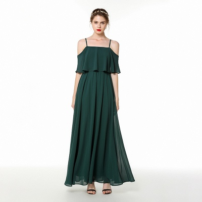 Evening dress green | Festive chiffon dresses_3