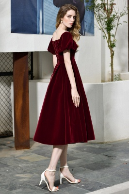 Evening dresses short wine red | Cocktail dresses cheap online_7