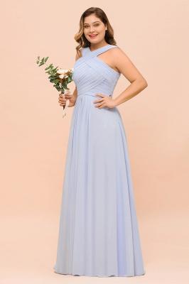 Lavender Brautjungfernkleider Große Größe | Chiffon Kleider Lang Günstig_4
