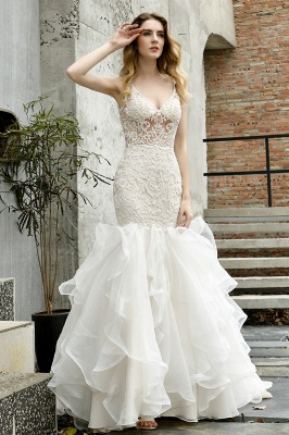 Fashion wedding dress with lace | Mermaid wedding dress_13