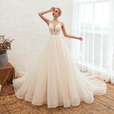 Elegant wedding dresses A line | Wedding dresses with lace online_13