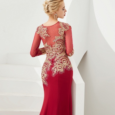 Evening dress long red | Prom dresses with sleeves_15