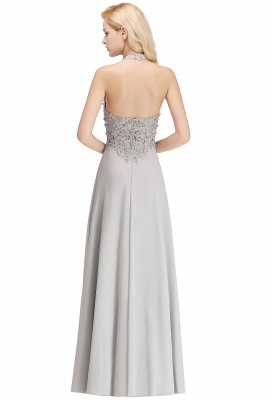 Silver Evening Dresses Long V Neck | Evening dress with lace_21