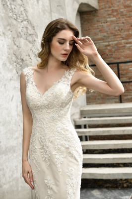 Modern wedding dress mermaid | Wedding dresses circumstance_4