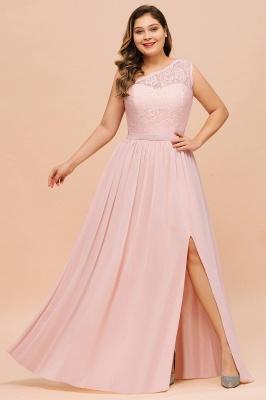 Elegante Brautjungfernkleider Lang Rosa | Brautjungfernkleid mit Spitze_4