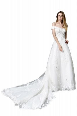 Beautiful wedding dresses with lace | Wedding dress A line_5
