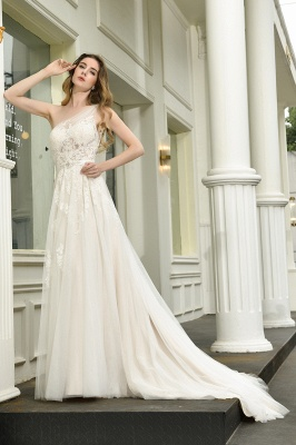 Elegant brewing dresses A line | Wedding dresses with lace_7