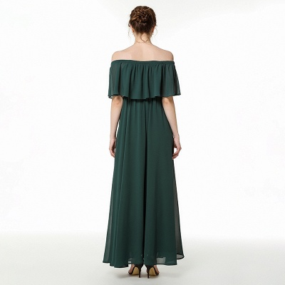 Chiffon dresses | Evening dress dark green_6