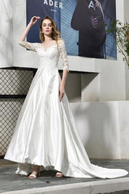 Standamt Hochzeitskleid A Linie | Brautkleider Lange Ärmel_1