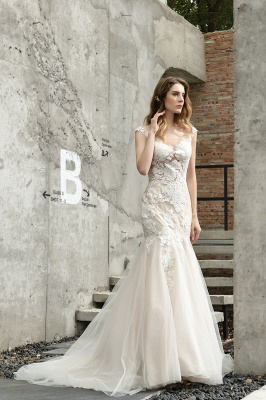 Gorgeous Wedding Dresses With Lace | Mermaid wedding dresses_8