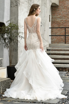 Fashion wedding dress with lace | Mermaid wedding dress_10