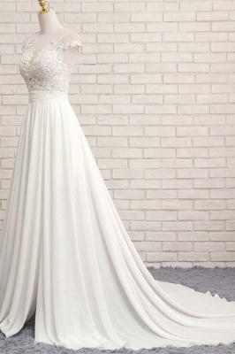 Summer Chiffon Kleider Für Hochzeit | Brautkleider A Linie Mit Spitze_4