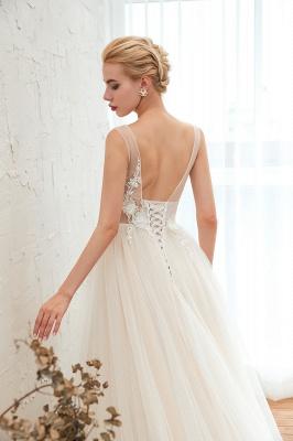 Elegante Hochzeitskleid A linie | Brautkleider Chiffon Günstig Online_7