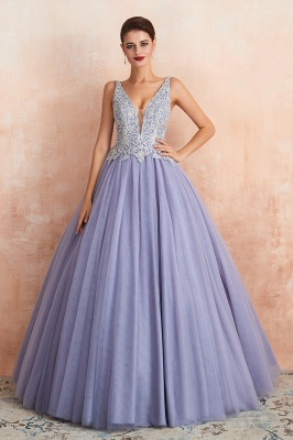 Designer Evening Dress Long V Neck | Evening wear online_7