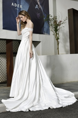 Simple wedding dresses cheap | Wedding dress A line_9