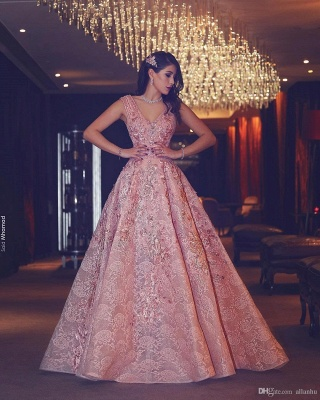 Pink Quniceanera Dresses 2021 Lace A Line Prom Dresses Evening Gowns Cheap_4