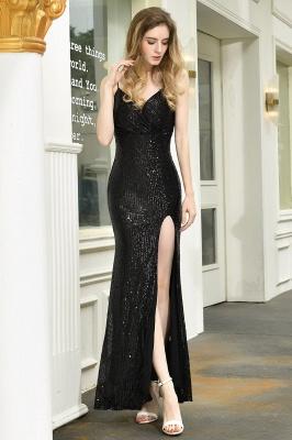 Evening dress long black | Prom dresses with glitter_5