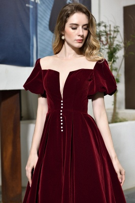 Evening dresses short wine red | Cocktail dresses cheap online_9