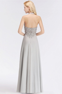 Silver Evening Dresses Long V Neck | Evening dress with lace_7