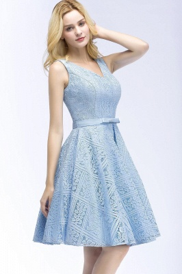 Blue cocktail dresses short | Prom dresses with lace_5