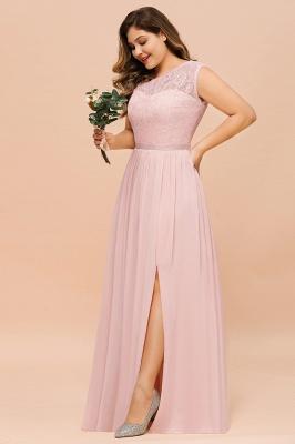 Elegante Brautjungfernkleider Lang Rosa | Brautjungfernkleid mit Spitze_8