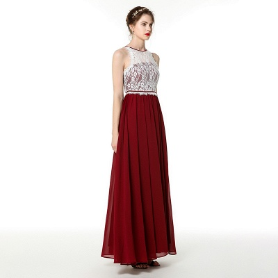 Evening dresses long burgundy | Festive dresses chiffon