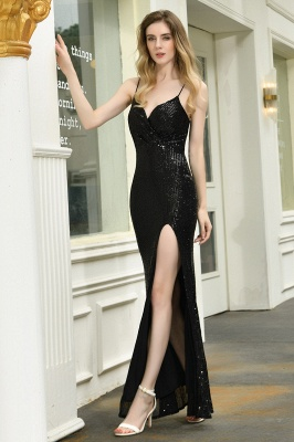 Evening dress long black | Prom dresses with glitter_6