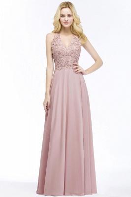 Abendkleider Lang V Ausschnitt | Abiballkleider Rosa_2