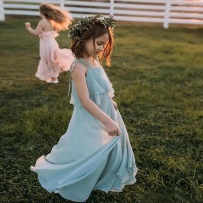 Blumenmädchenkleider für Kinder | Blumenmädchen Kleid Hellblau_3