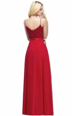 Evening dresses long V neckline | Red prom dresses_8