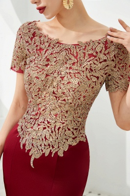Evening dresses long glitter | Red prom dresses with sleeves_7