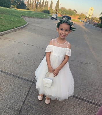 Flower girl dresses wedding | Flower girl dress Ivory_4