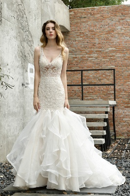 Fashion wedding dress with lace | Mermaid wedding dress_9