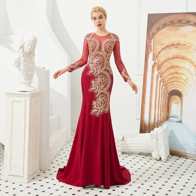 Evening dress long red | Prom dresses with sleeves_18