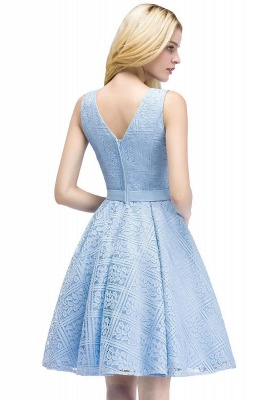 Blue cocktail dresses short | Prom dresses with lace_6