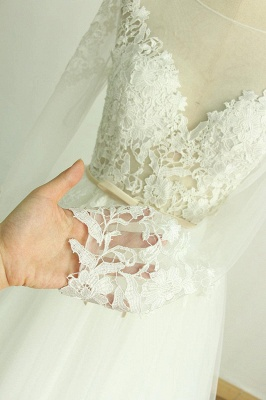 Beautiful wedding dresses A line | Wedding dresses with sleeves_5